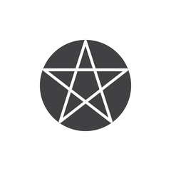 Pentagram or pentalpha vector icon. filled flat sign for mobile concept and web design. Paganism simple solid icon. Symbol, logo illustration. Pixel perfect vector graphics