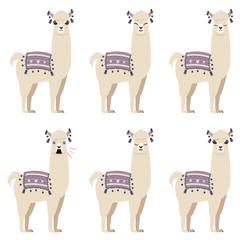 Cartoon llama character
