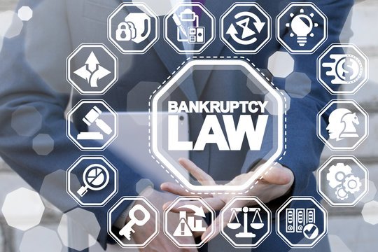 Bankruptcy Law. Judicial decision lawyer business concept.