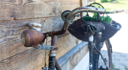 altes Fahrrad, Dekoration