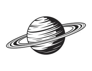 Vintage saturn planet concept