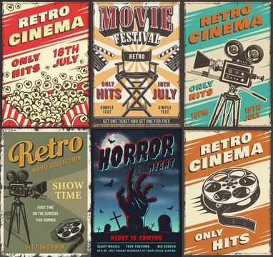 Cinema set of posters