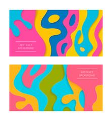 Abstract paper cut backgrounds. Vector illustration.  3d design elements.