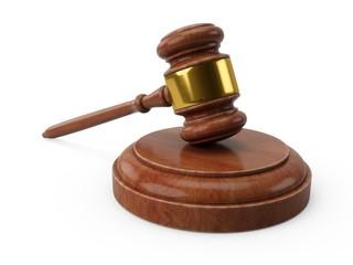 3D rendering Wooden gavel, Judge Hammer