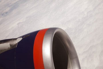 Airplane window panoramic views