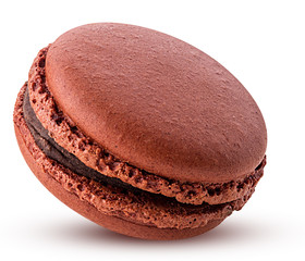 Sweet chocolate macarons