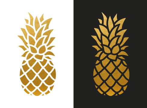 Golden Pineapple Shape