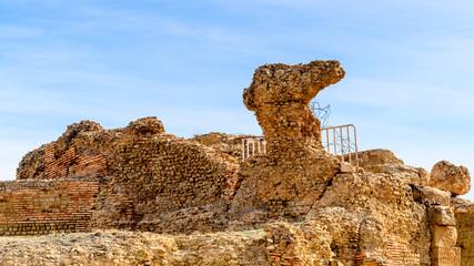 Timgad, a Roman-Berber city in the Aures Mountains of Algeria. (Colonia Marciana Ulpia Traiana Thamugadi). UNESCO World Heritage Site