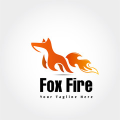 Jump fire fox logo