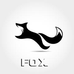 simple elegant jump fox logo