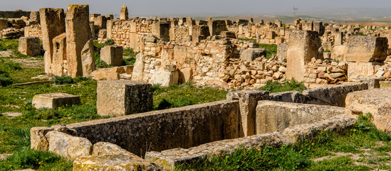 Ruins of Madauros, a Roman-Berber city in the old province of Numidia, Algeria