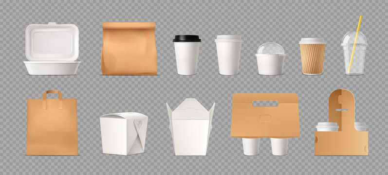 Fast Food Package Transparent Set