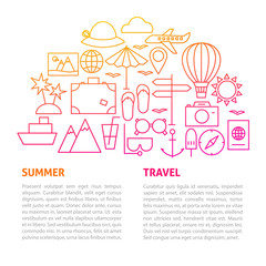 Summer Travel Line Template