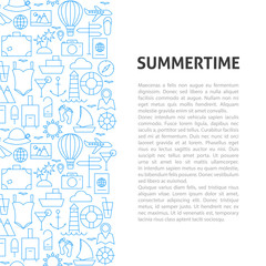 Summertime Line Pattern Concept