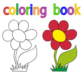 book coloring book, simple