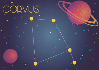 The constellation Corvus