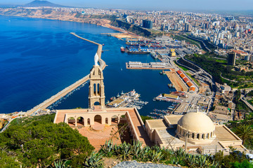 Santa Cruz fort of Oran, a coastal city of Algeria
