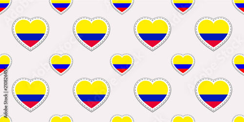 Colombia Background Colombian Flag Seamless Pattern Vector