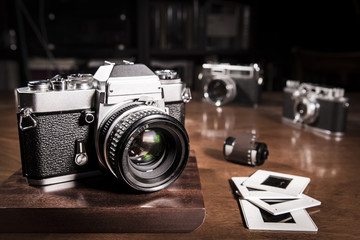 Old vintage film cameras