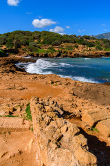 Mediterranean coast of Tipasa, a colonia in Roman province Mauretania Caesariensis, nowadays Algeria. UNESCO World Heritage Site