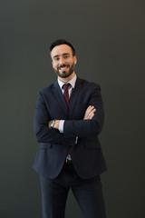 Elegant man in office suit
