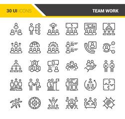 Team Work Icons