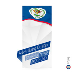 Vector abstract banner template for Belize.