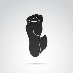 Foot vector icon.