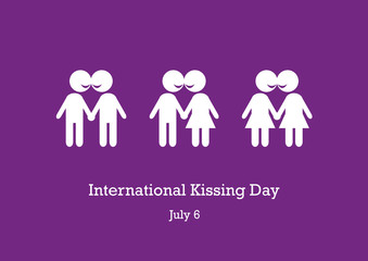 International Kissing Day vector. Kissing figures illustration. Stylized illustration of couples in love. Important day