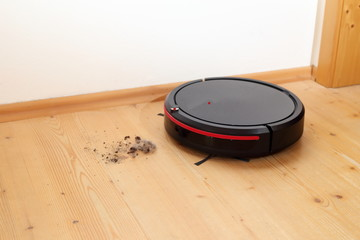 Staubsauger Roboter in Aktion