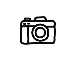 camera icon design illustration,hand drawn style design, designed for web and app