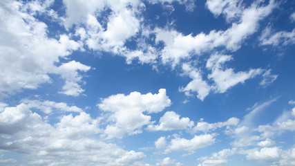 Daylight blue sky and clouds background