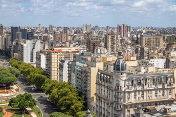 Aerial view of downtown Buenos AIres - Buenos Aires, Argentina