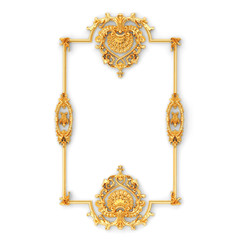 Stucco decoration, gold cartouche