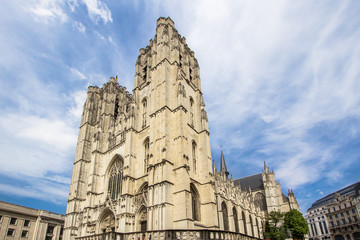 Cathedral St. Michael and St. Gudula in Brussel, Belgium
