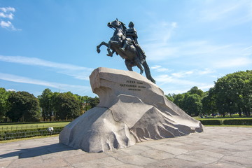 Monument to Peter the Great on Senate square, St. Petersburg, Russia Fototapete