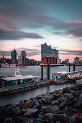 Hamburg Elbphilharmonie Sonnenuntergang