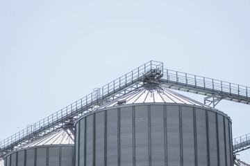 Grain Silo Bins - Farm Field Agricultural Building