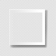 White Frame Isolated Transparent Background-