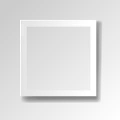White Frame Isolated Transparent Background