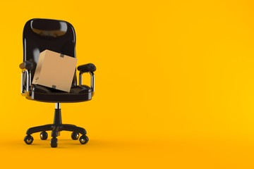 Package on business chair