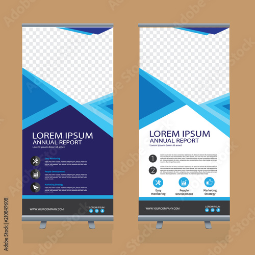 Vertical Banner Design Roll Up Business Template Stock Image And