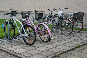 Munich, Germany - June 09, 2018: Bicycles in Munich