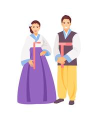 Korean clothing vector