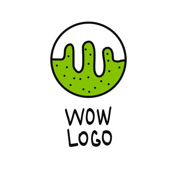 Slime illustration logo