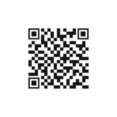 Vector QR code sample for smartphone scanning isolated on white background