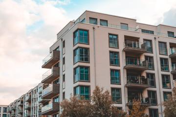 white apartment complex at berlin mitte