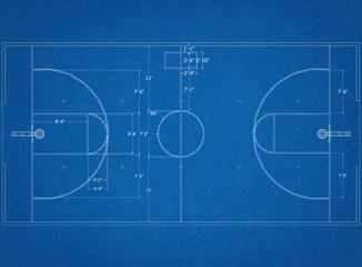 basketball court Architect Blueprint