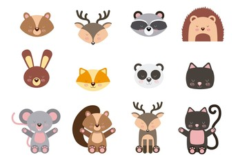 16 Colorful Animal Icons