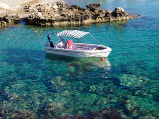 Boat on the sea Cyprus